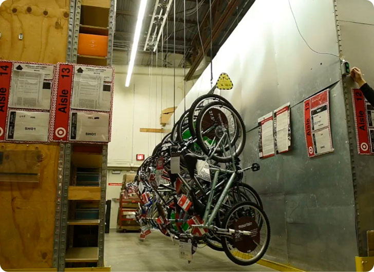 multiple bikes hanging on wall mount in target