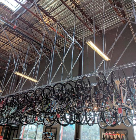 image of Overhead Bike Storage