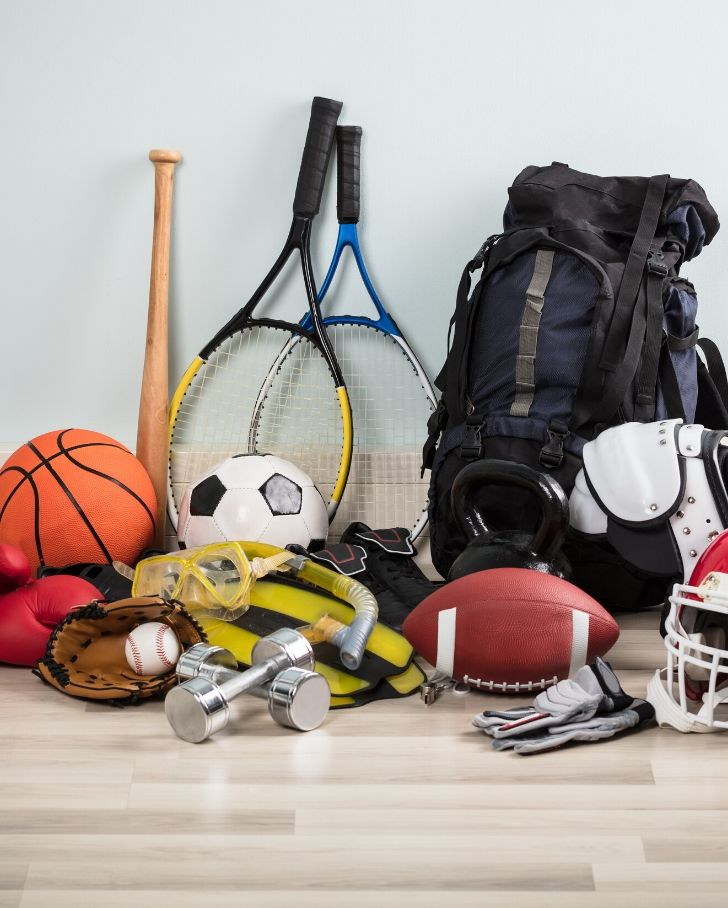 sporting equipment in need of athletic gear storage solutions